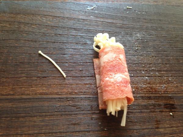 培根金针菇卷怎么做