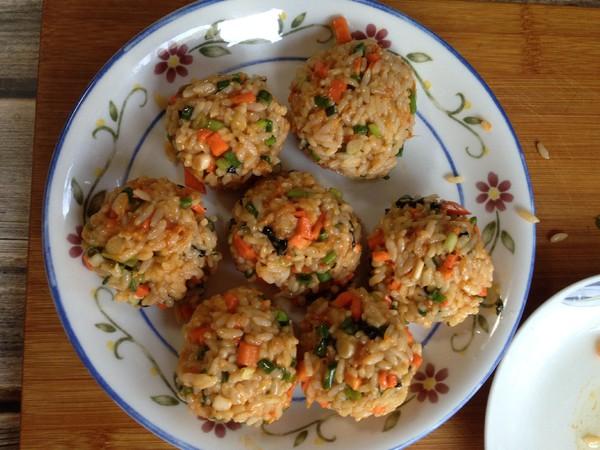 海苔肉松大米饼怎么炒