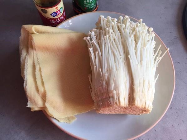 腐皮金针菇卷的做法大全