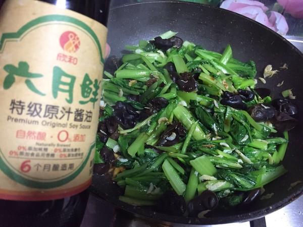 虾皮小白菜怎么煮