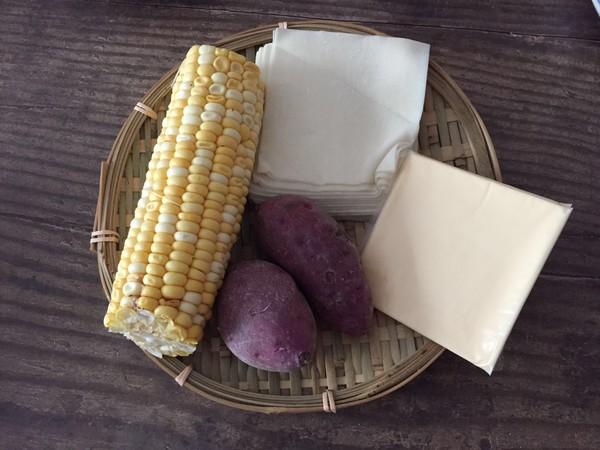 酥皮紫薯球的步骤