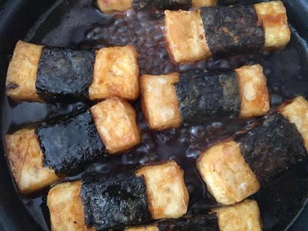 豆腐神仙吃法——照烧海苔豆腐怎么做