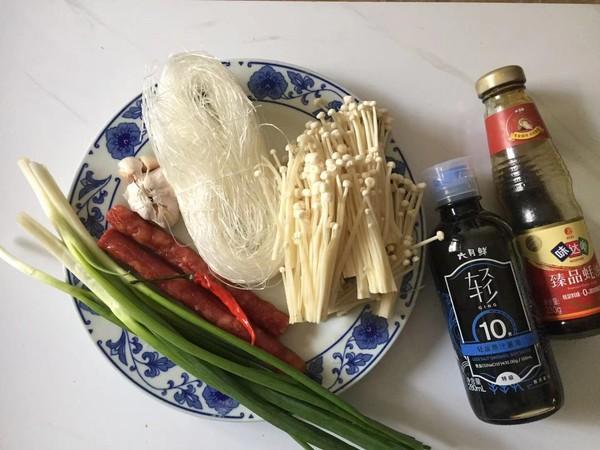 蒜蓉腊肠金针菇的做法大全