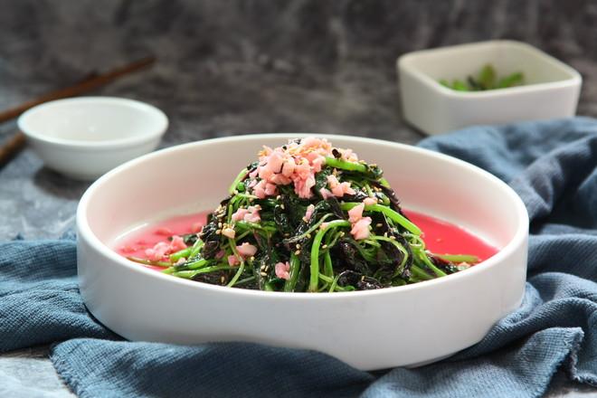 蒜蓉拌苋菜成品图