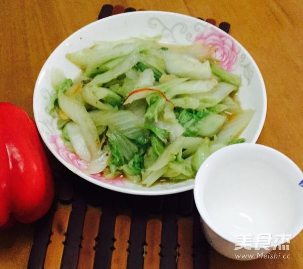 清炒大白菜成品图