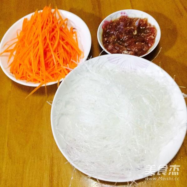 胡萝卜炒粉丝的做法图解