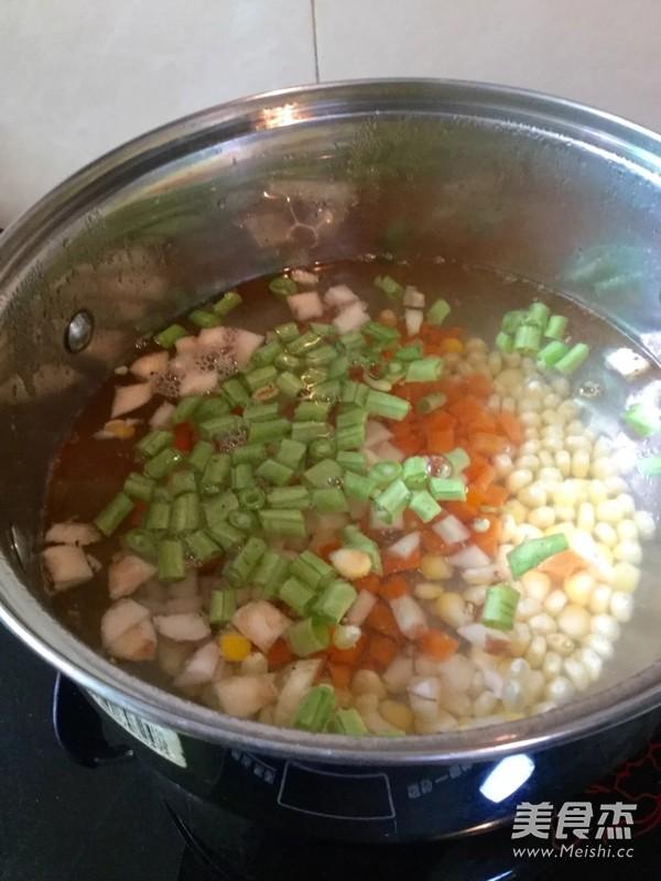 杂锦玉米羹怎么煮