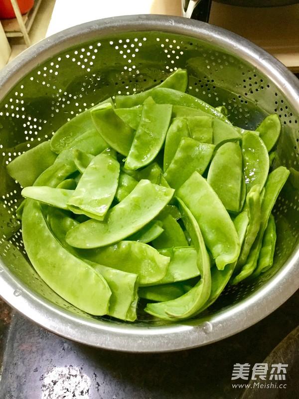 炒荷兰豆的做法图解