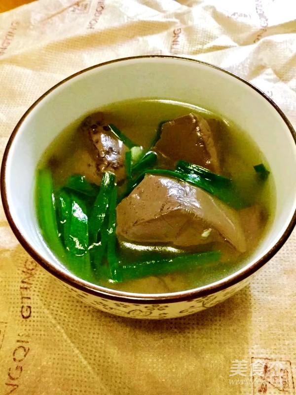 韭菜猪红汤怎么煮
