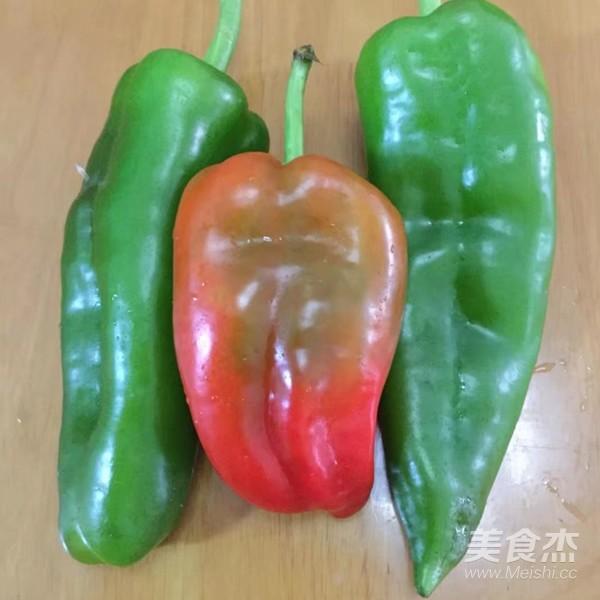 菜椒炒鸡肾的步骤