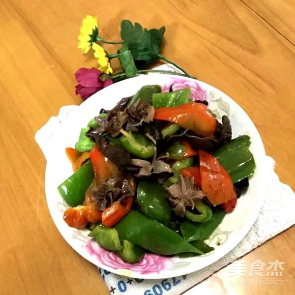 菜椒炒鸡肾成品图