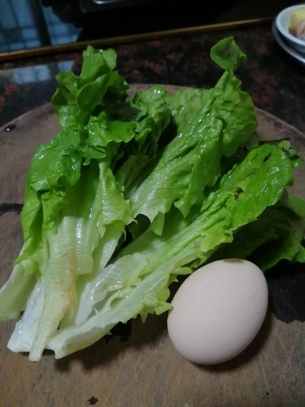 鸡蛋生菜面条的做法图解