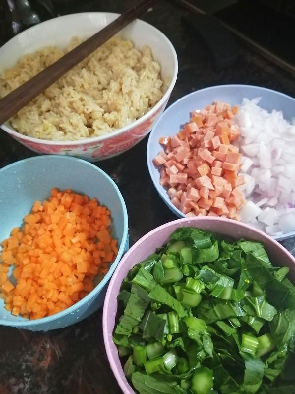 一个人的晚餐~~杂菜炒饭怎么吃