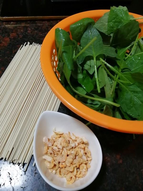 三分钟搞定的早餐~~虾米青菜汤面的做法大全