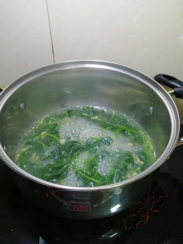 三分钟搞定的早餐~~虾米青菜汤面怎么煮