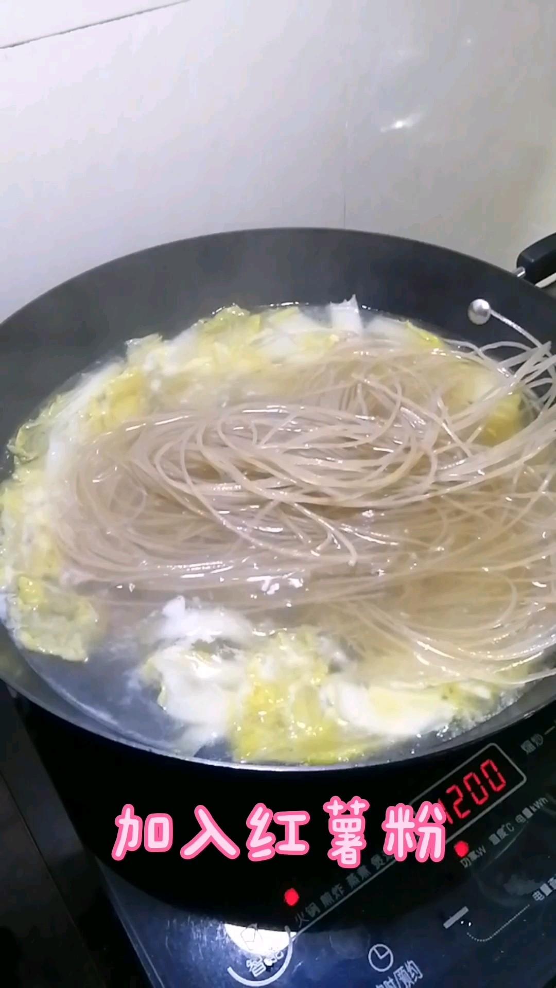 肉丁白菜炖粉条怎么煸