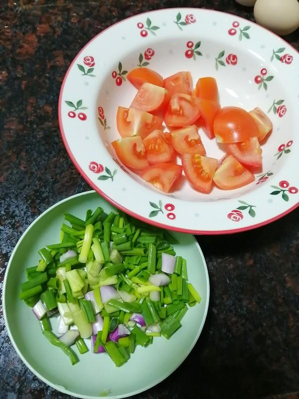 快手早餐~~番茄鸡蛋粉条的做法图解