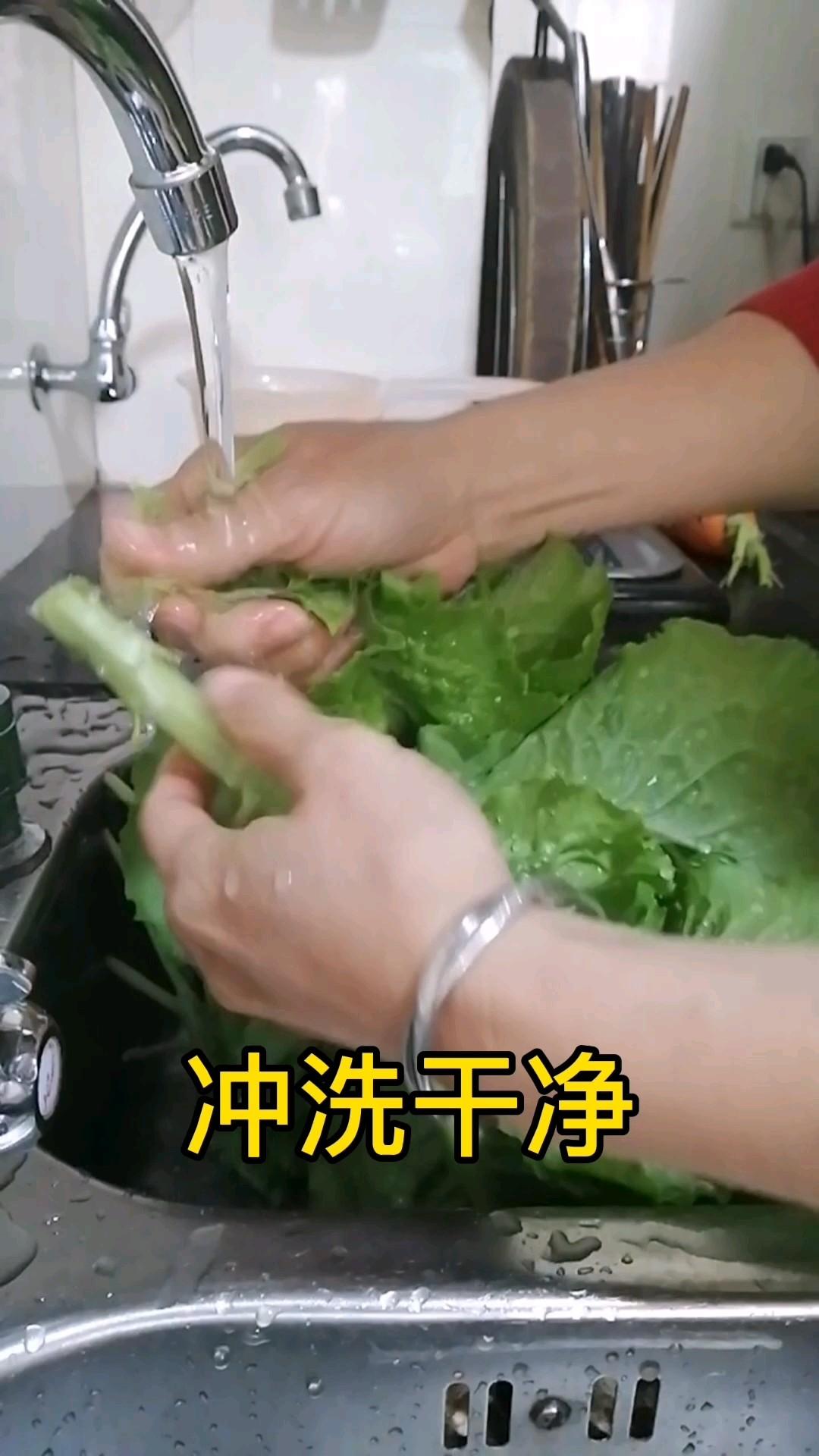 清炒有机生菜的家常做法