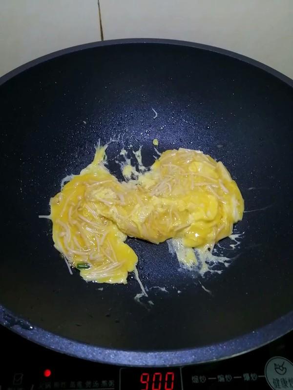 简简单单也不失美味~~金针菇炒鸡蛋怎样炒