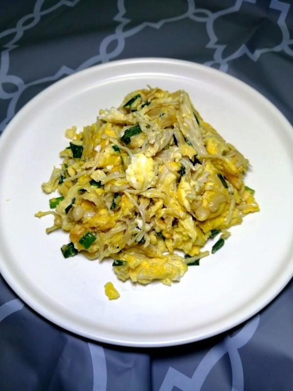 简简单单也不失美味~~金针菇炒鸡蛋的制作