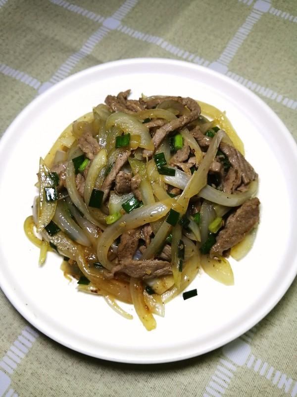 洋葱炒牛肉成品图