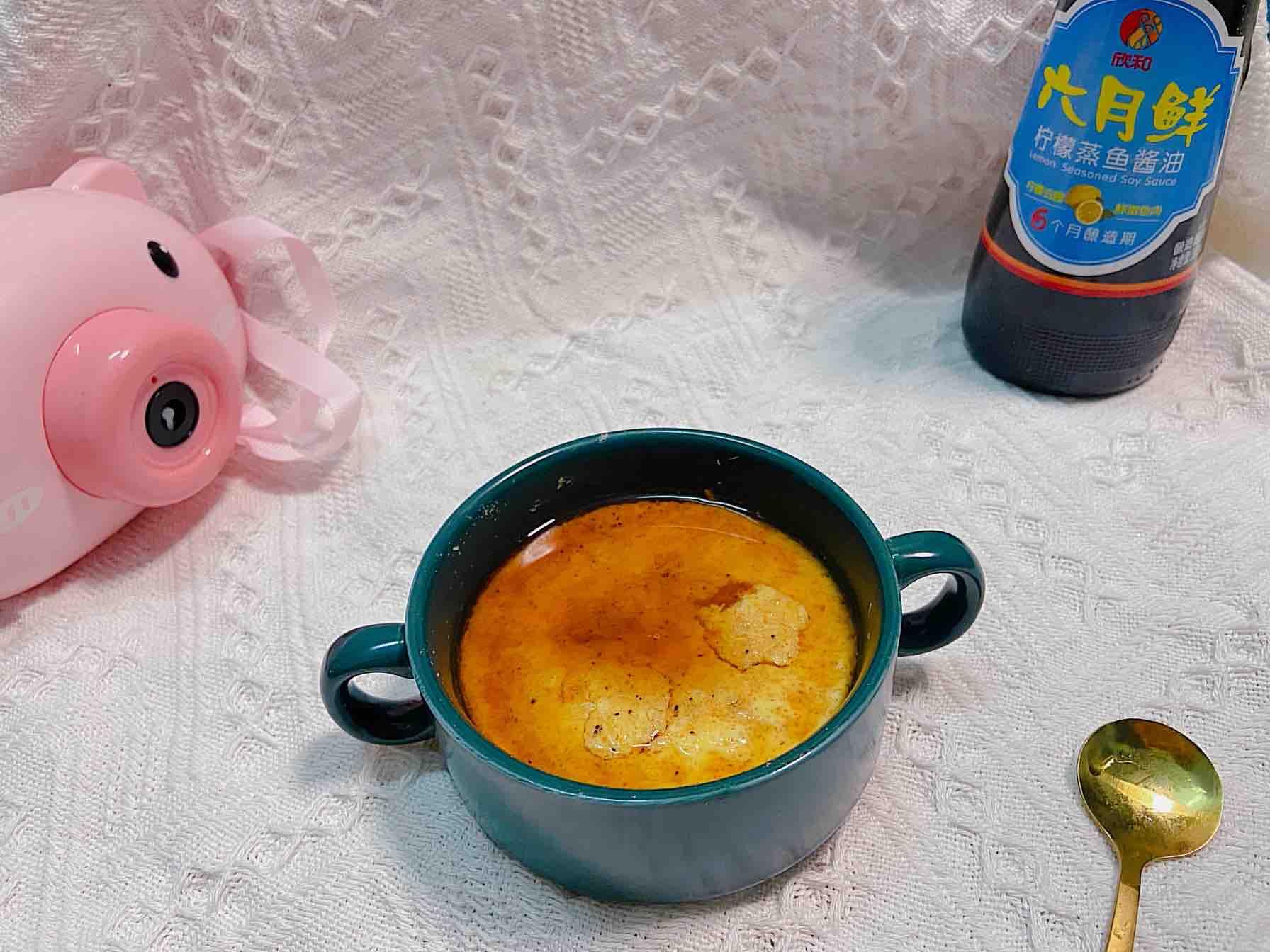 补钙长高食选推荐——虾皮蒸蛋成品图