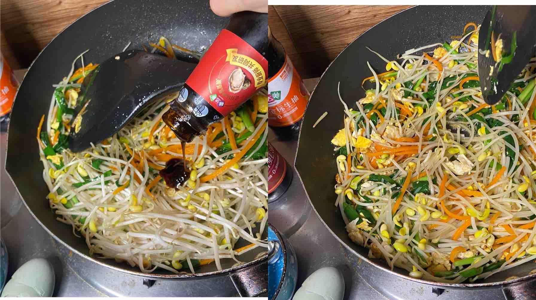 二月韭菜正当时之韭菜炒面的步骤
