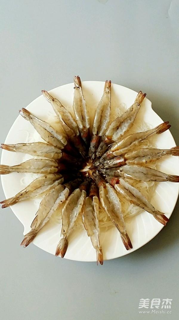金银蒜蒸粉丝虾的简单做法