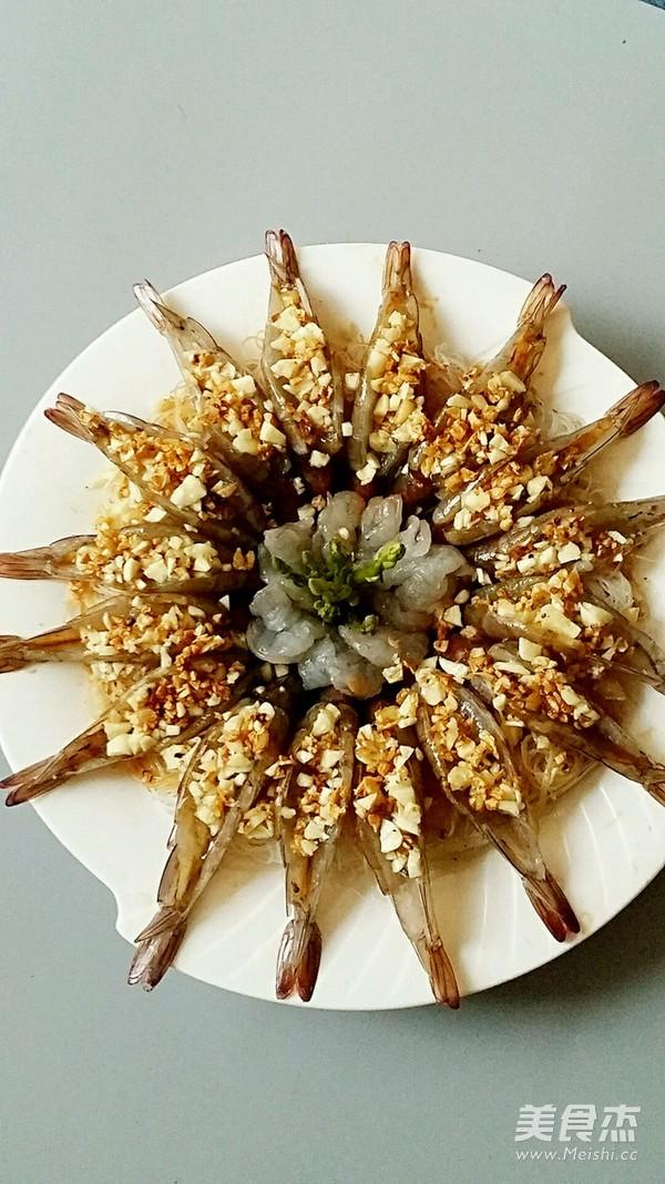 金银蒜蒸粉丝虾怎么吃