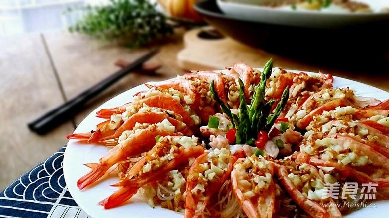 金银蒜蒸粉丝虾怎么做