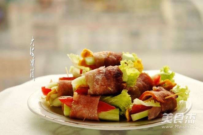 烤肉蛋菜卷怎么炖