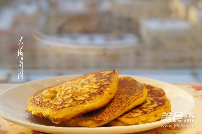 肉松玉米面发面饼怎么煮
