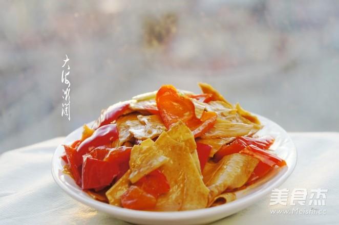 尖椒炒豆腐皮怎么煮