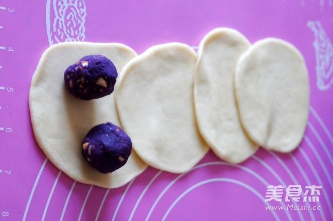 紫薯花生仁馅面包怎么吃