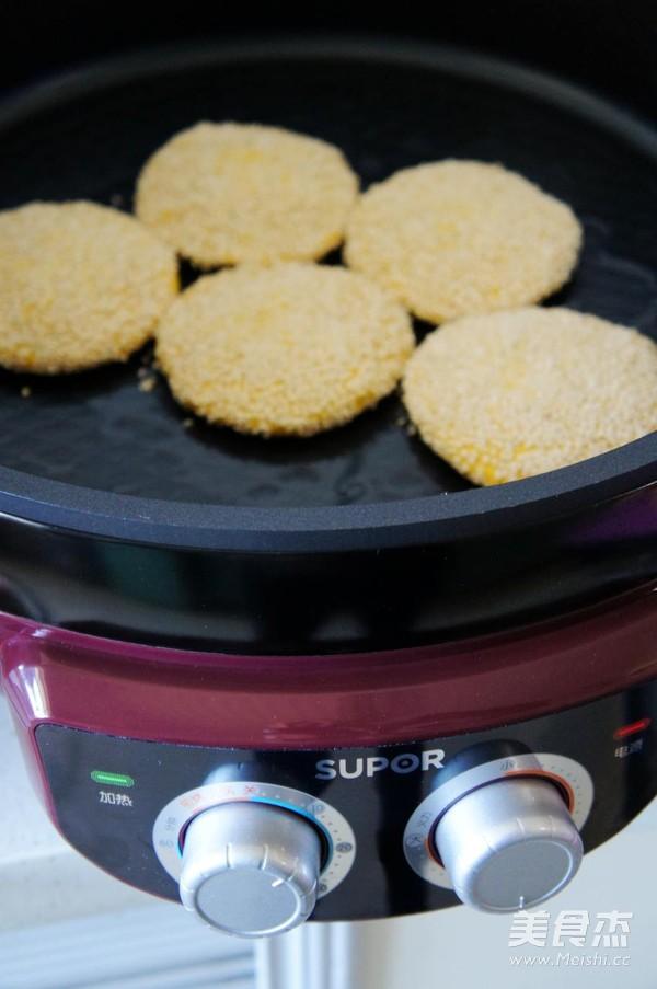 香煎绿豆沙馅南瓜饼怎样做