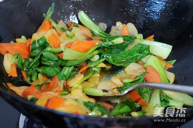 清炒油菜土豆片怎么炒
