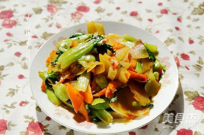 清炒油菜土豆片怎么煮
