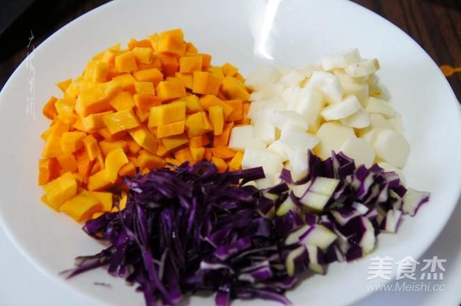 瓜蔬小米嚯嚯粥的做法图解