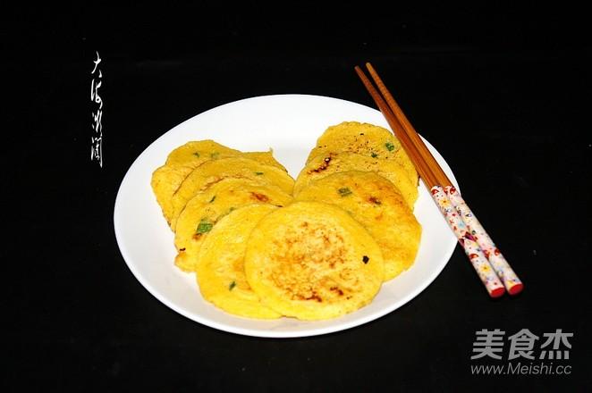 快手早餐,葱香玉米面饼怎么吃