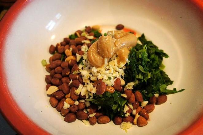 麻将菠菜拌鸡蛋的简单做法