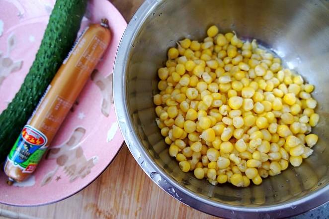 嫩玉米粒炒火腿肠的做法大全