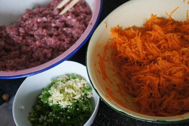 牛肉胡萝卜馅包子的做法图解