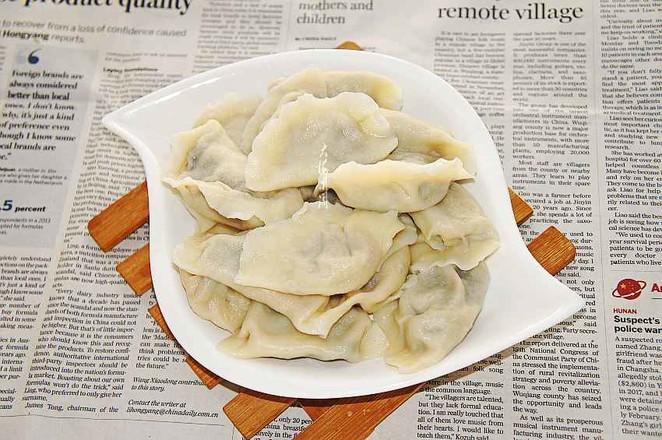 鸵鸟肉蒲公英馅水饺怎么煸
