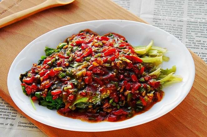 蚝油小生菜成品图
