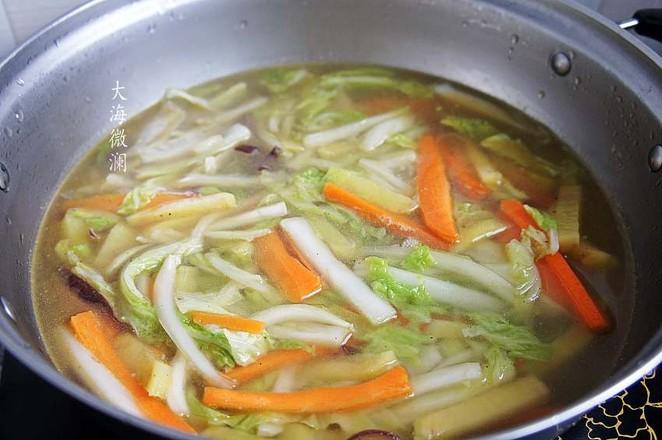 白菜胡萝卜土豆汤怎么吃