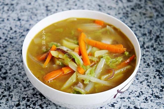 白菜胡萝卜土豆汤怎么炒