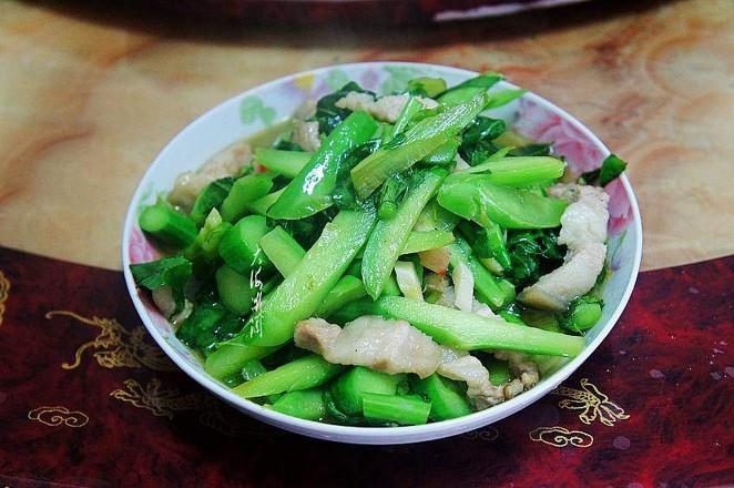 五花肉炒菜心怎么煮