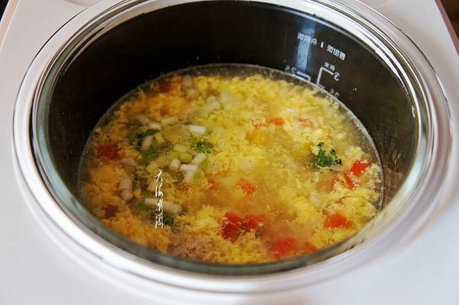 番茄豆腐蛋花汤怎么吃