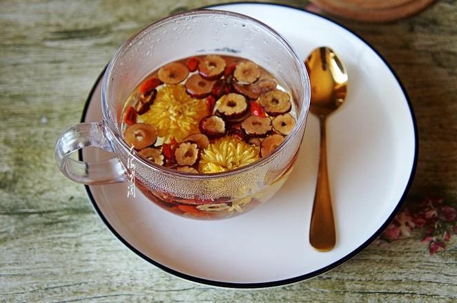 菊花红枣枸杞茶的简单做法