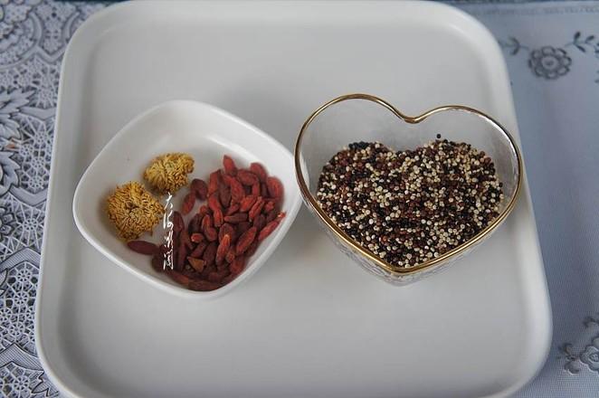 菊花枸杞三色藜麦茶的简单做法